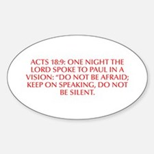 Acts 18 9 One night the Lord spoke to Paul in a vi