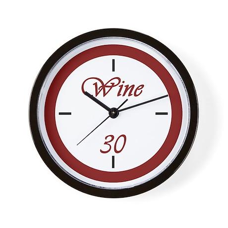 Wine 30 Wall Clock