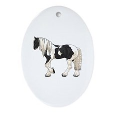 LARGER GYPSY VANNER Ornament (Oval)