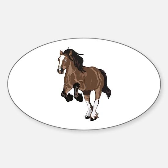 REARING DRAFT HORSE Decal