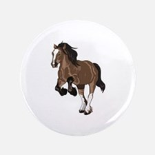 """REARING DRAFT HORSE 3.5"""" Button (100 pack)"""