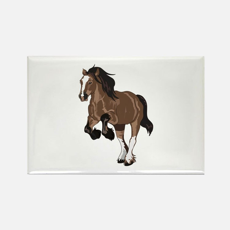 REARING DRAFT HORSE Magnets