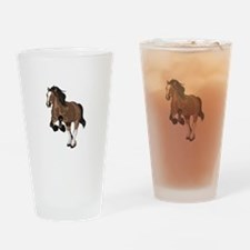 REARING DRAFT HORSE Drinking Glass