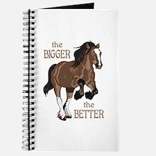 THE BIGGER THE BETTER Journal
