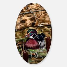 Cute Duck Sticker (Oval)