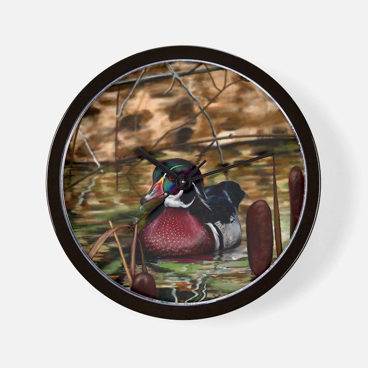 Cute Wood duck Wall Clock