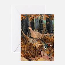 Unique Pheasant Greeting Card
