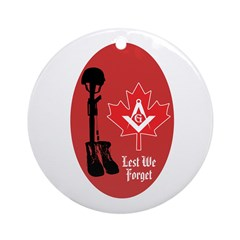 Fallen Brothers - Canada Ornament (Round)
