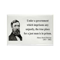 Henry David Thoreau 18 Rectangle Magnet (10 pack)