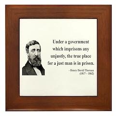 Henry David Thoreau 18 Framed Tile