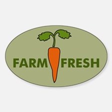 Cute Fresh local buy food eat sustainable agriculture f Decal