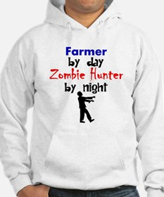 Farmer By Day Zombie Hunter By Night Hoodie