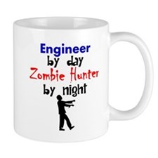 Engineer By Day Zombie Hunter By Night Mugs