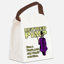 RETIRED PIMP Canvas Lunch Bag