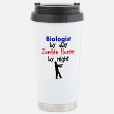 Biologist By Day Zombie Hunter By Night Travel Mug