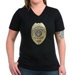 Process Server Women's V-Neck Dark T-Shirt