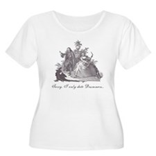 """Women's Plus Size """"Drummers Only""""  T-Shirt"""