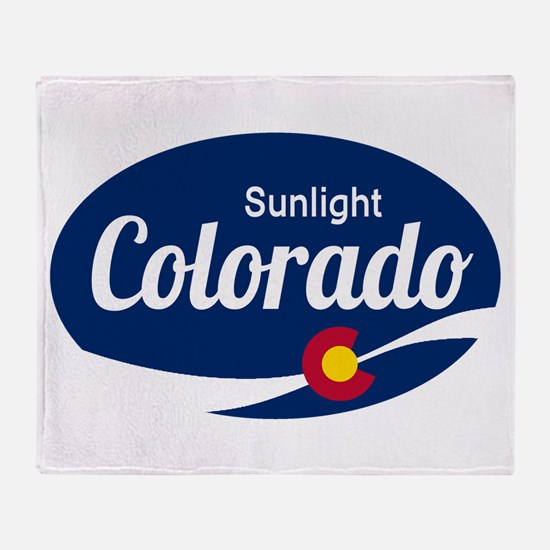 Epic Sunlight Ski Resort Colorado Throw Blanket