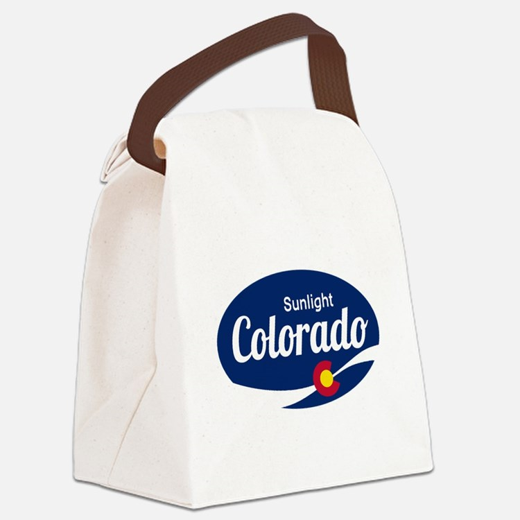 Epic Sunlight Ski Resort Colorado Canvas Lunch Bag