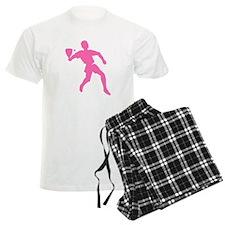 Pink Racquetball Player Silhouette Pajamas