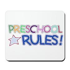 Preschool Rules - Mousepad