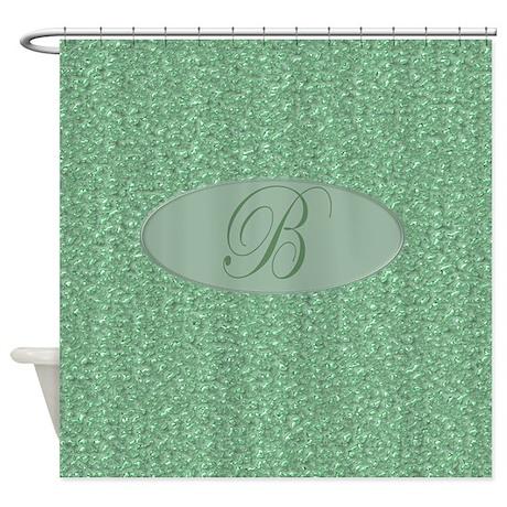 Monogrammed B Shower Curtain by MonogrammedShowerCurtains