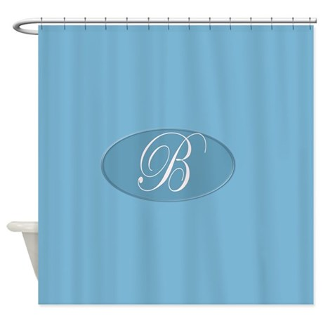 gifts blue bathroom decor bathroom d cor monogrammed b shower curtain