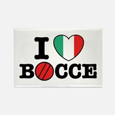 I Love Bocce Rectangle Magnet