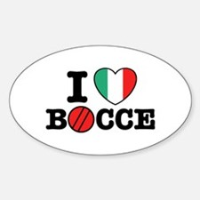 I Love Bocce Oval Decal