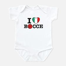 I Love Bocce Infant Bodysuit