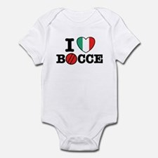 I Love Bocce Onesie