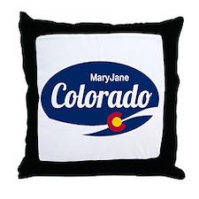 Epic Mary Jane Ski Resort Colorado Throw Pillow
