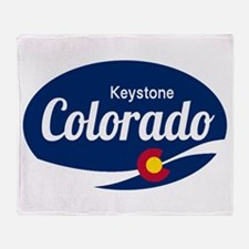 Epic Keystone Ski Resort Colorado Throw Blanket