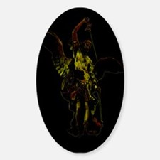 Powerful Angel - Gold Oval Decal