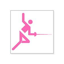 Pink Fencing Sticker