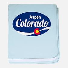 Epic Aspen Ski Resort Colorado baby blanket