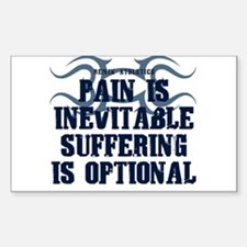 Pain is Inevitable Quote Rectangle Decal