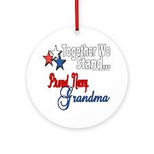 Navy Grandma Ornament (Round)