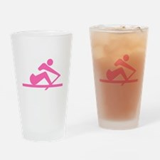 Pink Crew Drinking Glass