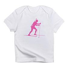 Pink Biathlete Silhouette Infant T-Shirt