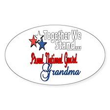 National Guard Grandma Oval Decal