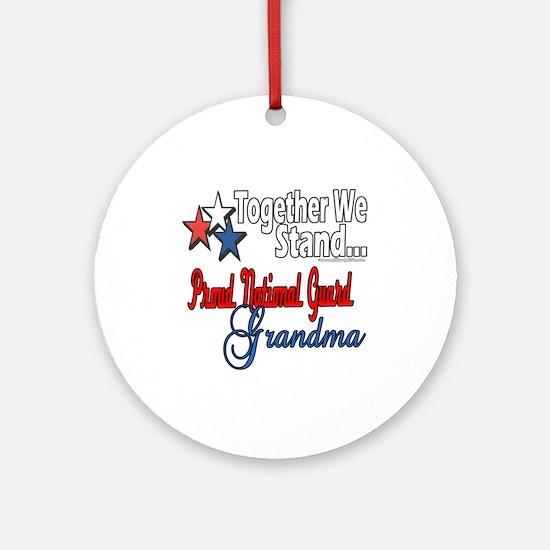 National Guard Grandma Ornament (Round)