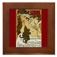 Alphonse Mucha Art Nouveau Exposition Framed Tile