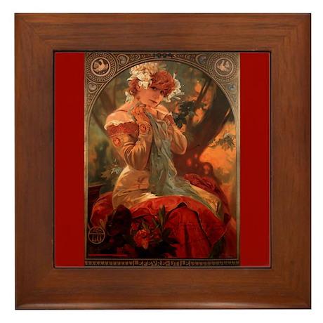 Alphonse Mucha Framed Art Tile Lefevre-Utile