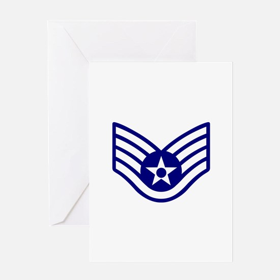 USAF E-5 STAFF SERGEANT Greeting Cards