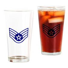 USAF E-5 STAFF SERGEANT Drinking Glass