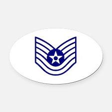 USAF E-6 TECH SERGEANT Oval Car Magnet
