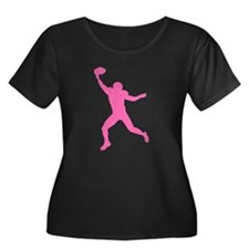 Pink Wide Receiver Plus Size T-Shirt