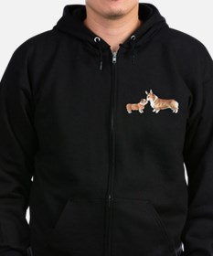 CORGI ADULT AND PUP Zipped Hoodie