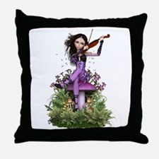 Amethyst Fairy ~ Summer Melody Throw Pillow
